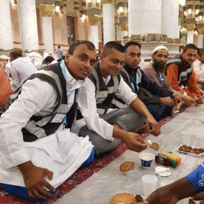 Blog 1- Group leaders breaking fast in madinah